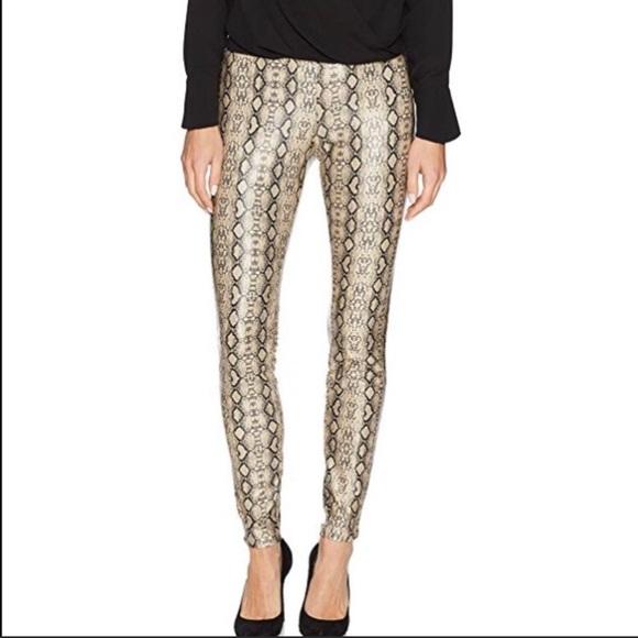 bef4545c14e67 HUE Pants   Nwt Python Faux Leather Leggings L   Poshmark